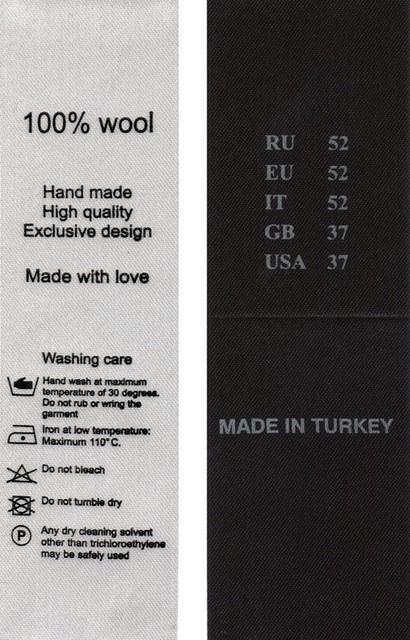 Сатиновые этикетки (составники, размерники)