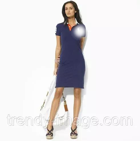 В стиле Ральф лорен женское платье 100% хлопок ральф лорен поло