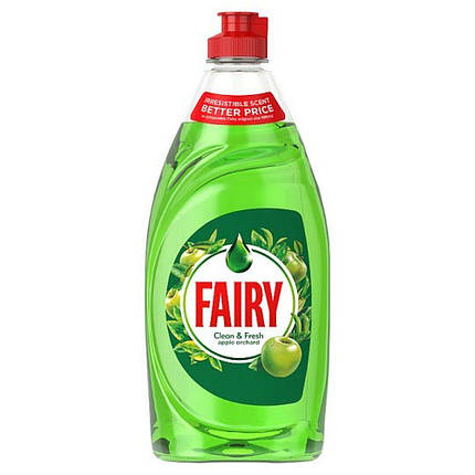 Рідкий засіб для миття посуду Fairy Clean & Fresh apple orchard (яблучний сад)520 мл., фото 2