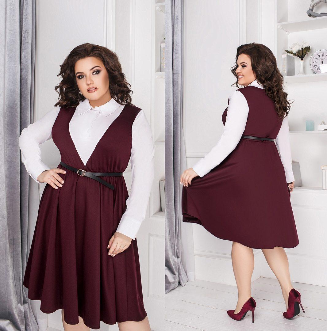 """Шикарное женское платье, ткань """"Софт+Трикотаж""""  56, 58 размер батал 56"""