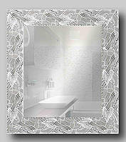 Зеркало настенное в раме Factura White pattern 48.5х53.5 см белое, фото 1