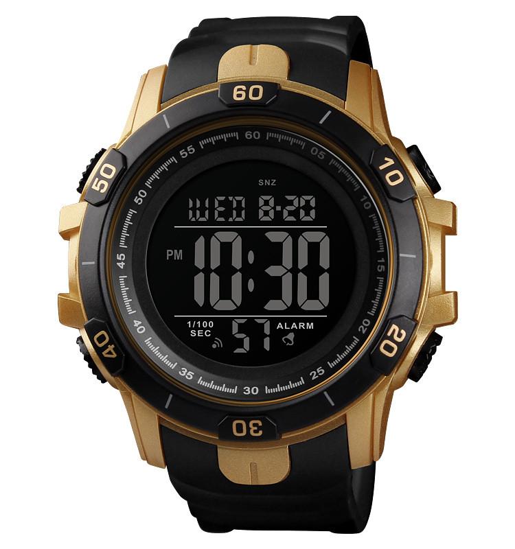Skmei 1475 золотистые мужские спортивные часы