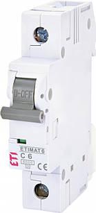 Автоматический выключатель ETIMAT 6 1p C 6A