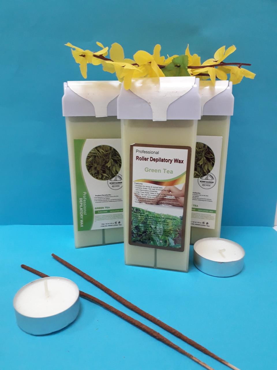 Воск кассетный Зеленый чай 100 г