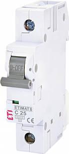 Автоматический выключатель ETIMAT 6 1p C 25A