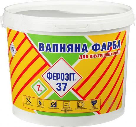 Фарба вапняна Ферозіт-37 7кг, фото 2