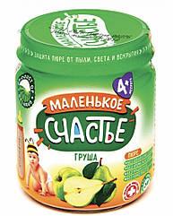 """Пюре фруктовое Груша  """"Маленькое счастье"""" 90 гр с 4 мес"""