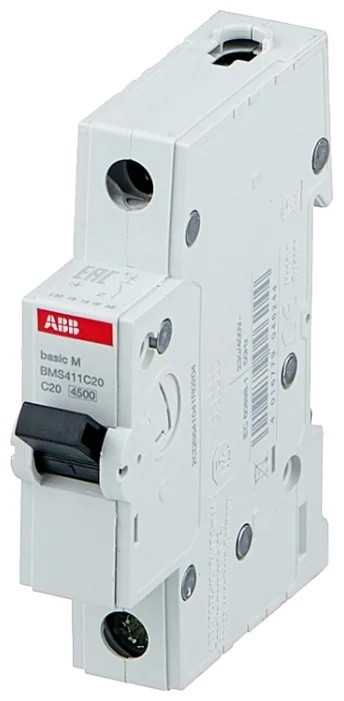 Автоматичний вимикач 20A 1P(C) 4,5kA Basic M ABB