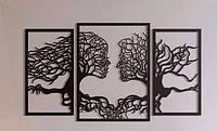 Панно настенное Силуэты из дерева. Декоративное панно из дерева. Интерьерный декор.