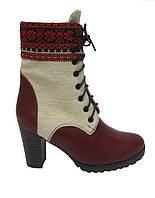 """Этно-обувь ботинки женские из конопли """"Высь"""" автентик"""