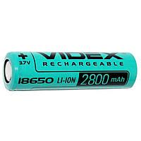 Аккумулятор 18650 VIDEX  2800 mAh Li-ion Без Защиты