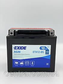 Мото аккумулятор EXIDE ETX12-BS 10Ah