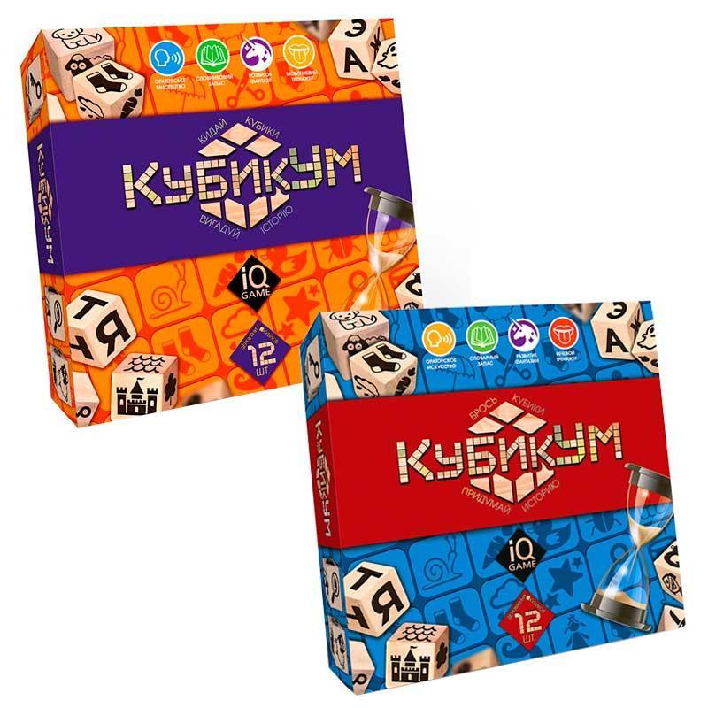 """Настільна розважальна гра """"КубікУм"""" G-KU-01 Danko toys, кубики, фішки, 8+"""