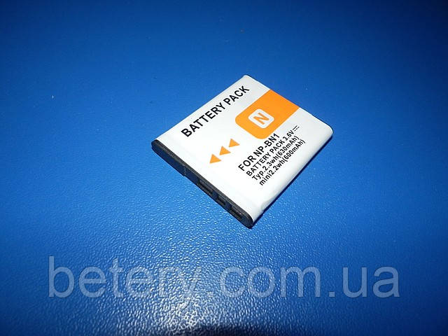 "Аккумулятор MastAk аналог NP-BN1 3,6V 0,630Ah (2,3Wh) "" info-Litium """
