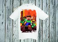 Футболка детская с принтом Minecraft