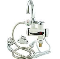 Проточный кран с нагревателем воды,   кран с душем водонагреватель электро, нижнее