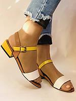 Відкриті жіночі босоніжки .Натуральна ножа.Низький каблук.Супер комфорт.37-39.Vellena, фото 2