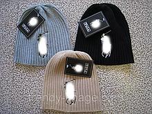 Вязаные шапки в стиле Раль поло  для взрослых и подростков хлопок шапка