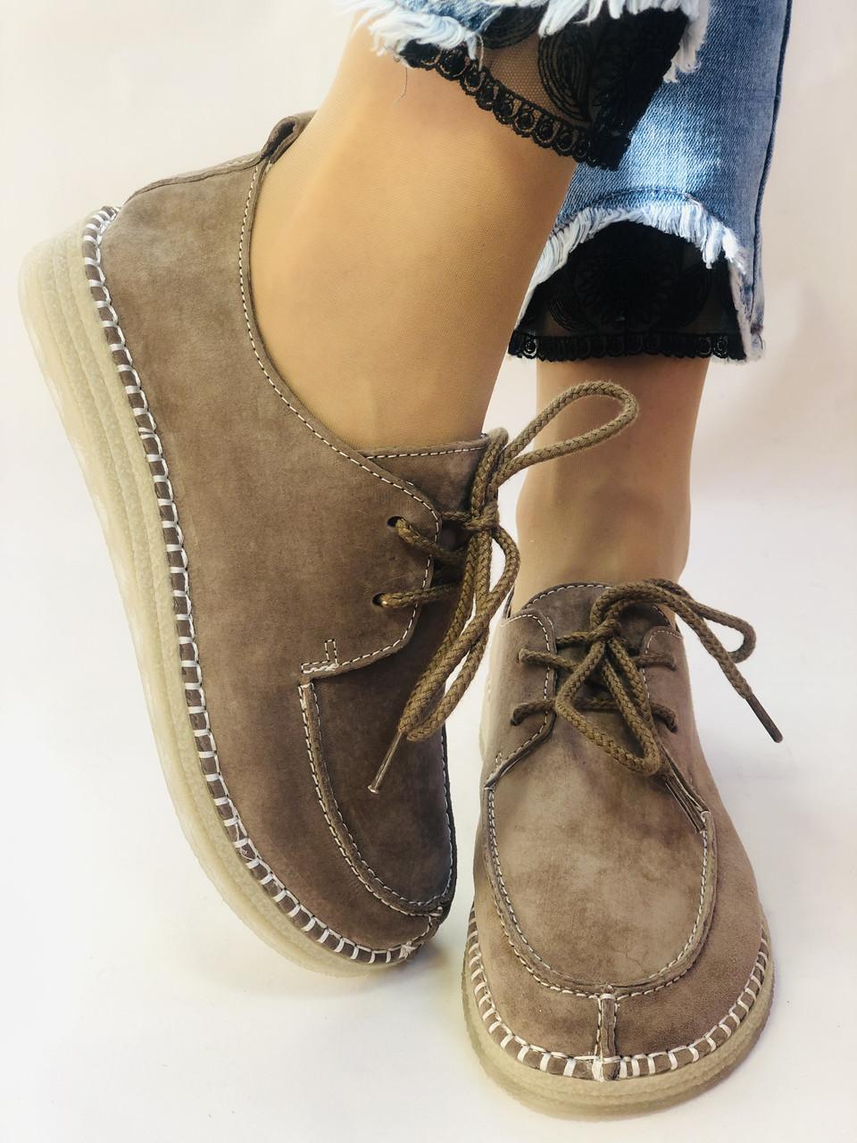24pfm. Жіночі туфлі - натуральний замш. Розмір 36.38 Vellena