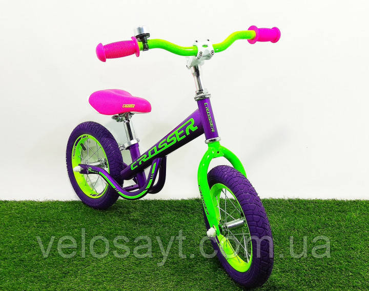 Дитячий беговел (велобіг від) Crosser Balance Bike New 14 дюймів фіолетовий