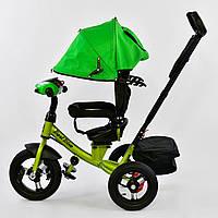 Bелосипед трехколесный Best Trike 7700 В - 2550 с надувными колесами Зеленый