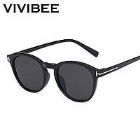 Очки солнцезащитные круглые VIVIBEE V4061 черные