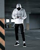 Спортивный костюм LC Jet-Tenc х white-black  мужской весенний / летний ЛЮКС