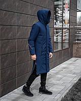 Мужская зимняя синяя куртка пальто Pobedov Champion