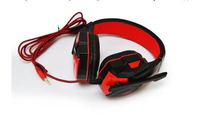 Навушники ігрові дротові SOYTO SY850MV з мікрофоном Сині Червоні з