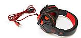 Навушники ігрові дротові SOYTO SY850MV з мікрофоном Сині Червоні з, фото 2