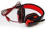 Навушники ігрові дротові SOYTO SY850MV з мікрофоном Сині Червоні з, фото 3