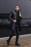 Мужская черная куртка пальто Pobedov