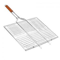 Решетка для гриля и барбекю на мангал из нержавейки / Решітка для гриля і барбекю на мангал (34*22 см)