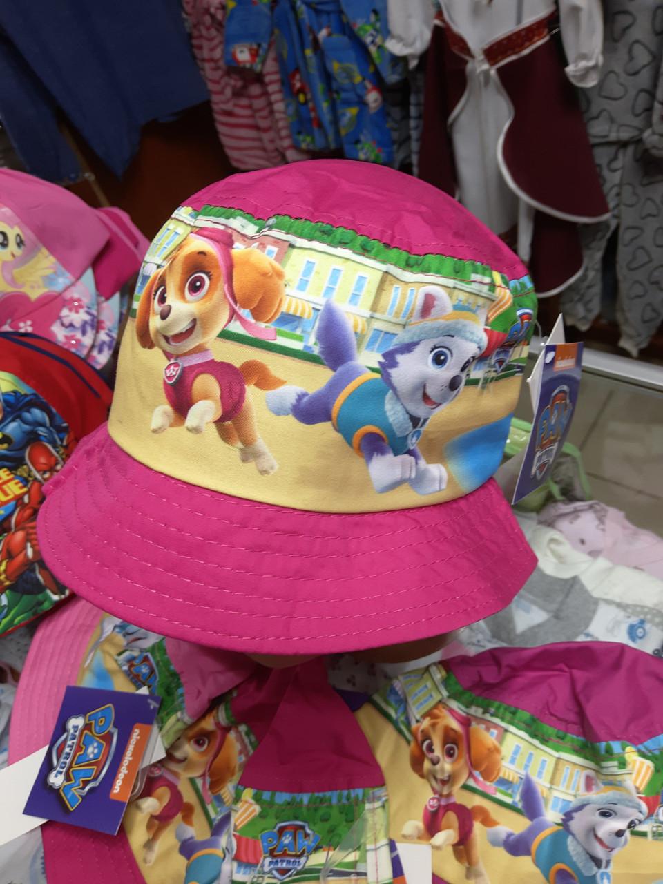 Панама детская хлопковая для девочки Щенячий Патруль 2 3 4 года