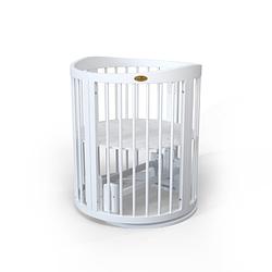 Детская овальная кроватка-трансформер 9 в 1 IngVart Baggybed Round Moon (белый)