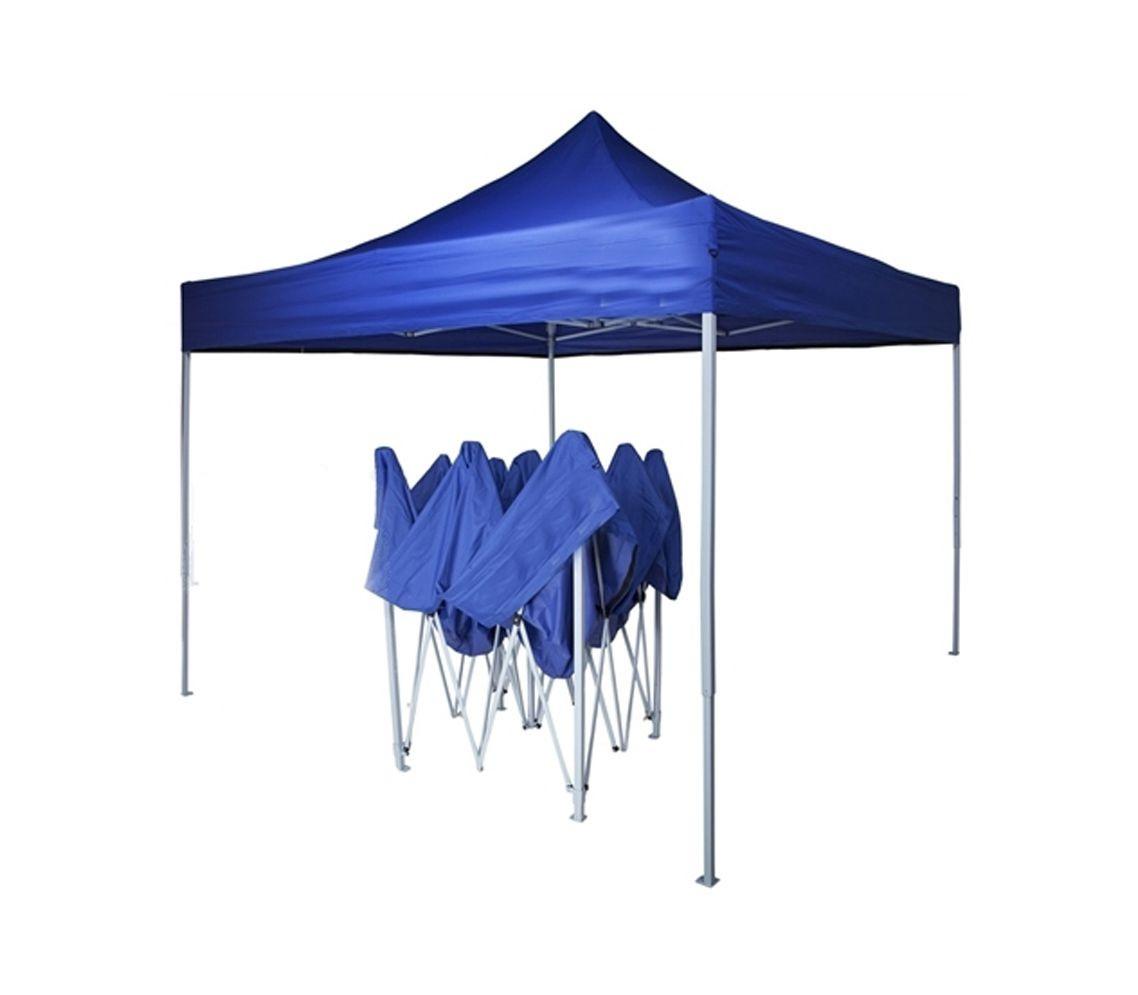 Намет розсувний 2 м х 2 м синій, Захисний намет-гармошка з водонепроникним прогумованим тентом, фото 3