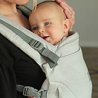 Ерго рюкзак для новонароджених ONE + Organic Love & Carry Рюкзак для перенесення дітей Туман, фото 1