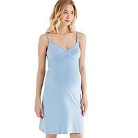 Ночная рубашка для беременных и кормящих МАМИН ДОМ 24130 (размер 42, голубой), фото 1