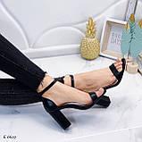 Босоніжки жіночі чорні закриті на підборах 8,5 см еко - шкіра, фото 7