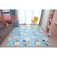 Двухстронний складной детский коврик-игрушка Sticker Wall 2,00 x 1,80 м.  Толщиной 1см. Развивающий, Экологичный, Износостойкий, Безопасный