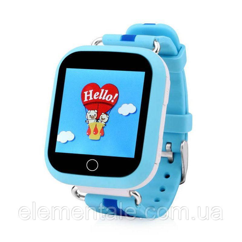 Детские умные GPS часы Q100s Blue