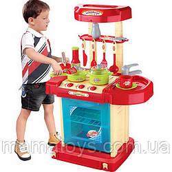 Детская Игровая Кухня в Чемодане 008-58 A Звук, Свет, посуда