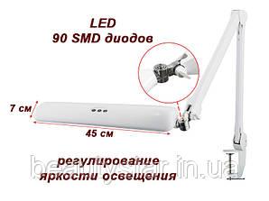 Светильник для маникюра Настольная Led лампа с регулировкой света для маникюра, для наращивания ресниц 8017