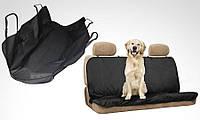Автогамак для собак PetZoom 145 х 145 см, чехол для перевозки собак, накидка влагостойкая в салон автомобиля.