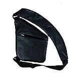 Мужская сумка Valenta кожаная через плечо 28х22х2 см Черная, фото 2