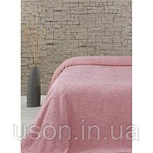 Турецкая махровая простынь TM Lotus 160*220 Sun розовый