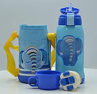 Термос-поилка детский в чехле 0.5 л Stenson MT-2055, синий