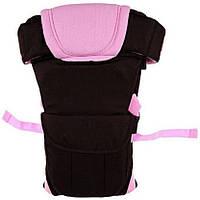 Сумка-кенгуру SUNROZ BP-14 Baby Carrier рюкзак для переноски ребенка Черно-Розовый