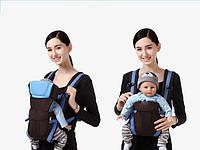 Сумка-кенгуру SUNROZ BP-14 Baby Carrier рюкзак для переноски ребенка Черно-Синий