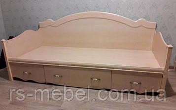 """Кровать 1-спальная с ящиками """"Селина"""" (Світ Меблів)"""
